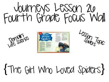 Journeys Fourth Grade Unit 6 Focus Wall