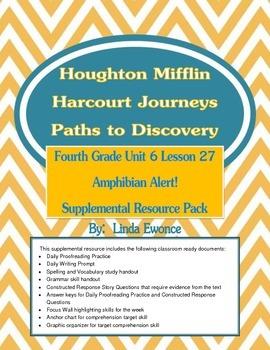 Journeys Fourth Grade Unit 6 Lesson 27 - Amphibian Alert S
