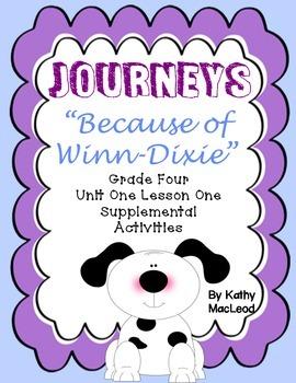 "Journeys Fourth Grade:  ""Because of Winn-Dixie"""