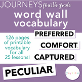Journeys - Fourth Grade Vocabulary - Word Wall Resource