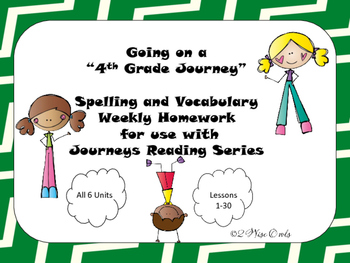 Journeys Fourth Grade Weekly Homework and Vocabulary Skill