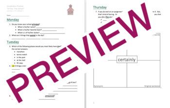 Journeys GR 3 Unit 1 Bundle - Rigorous Vocabulary Practice