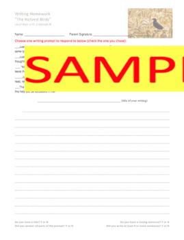 Journeys GR 3 Unit 2.8 - The Harvest Birds -Rigorous Writing Prompts