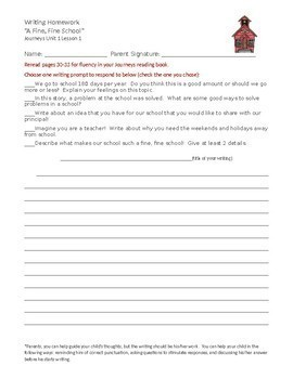 Journeys GR 3 Unit 2.9 - Kamishibai Man -Rigorous Writing Prompts