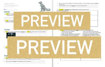 Journeys GR 3 Unit 4.17 -The Albertosaurus Mystery- Rigorous Vocabulary Practice
