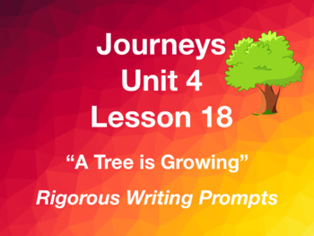 Journeys GR 3 Unit 4.18 - A Tree is Growing - Rigorous Writing Prompts