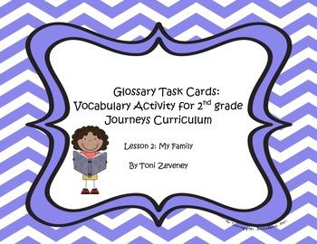 Glossary Task Cards for Journeys Grade 2