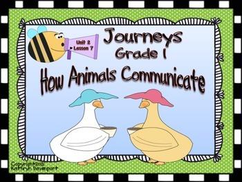 Journeys Grade 1 How Animals Communicate