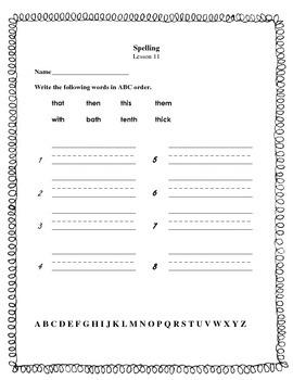 Journeys   Grade 1   Lesson 11   ABC order