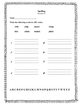 Journeys   Grade 1  Lesson 12    ABC order