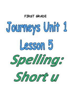 Journeys Grade 1 Lesson 5- Read Write Make