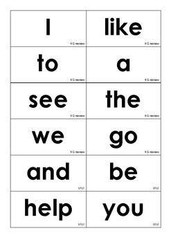 Journeys Grade 1 Unit 1-6 High Frequency Word Wall Cards
