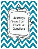 Journeys Grade 1 Unit 1 Essential Questions
