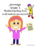 Journeys Grade 1 Unit 1 Modified Spelling