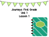 Journeys First Grade Unit 1 Weekly PowerPoint