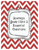 Journeys Grade 1 Unit 2 Essential Questions