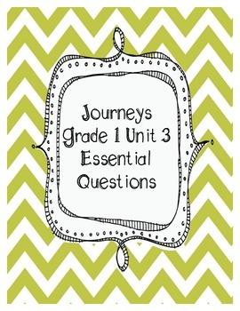 Journeys Grade 1 Unit 3 Essential Questions