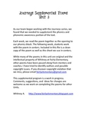 Journeys Grade 1 Unit 3 Supplemental Poems