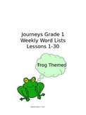Editable:  Journeys Grade 1 Weekly Word Lists Lessons 1-30