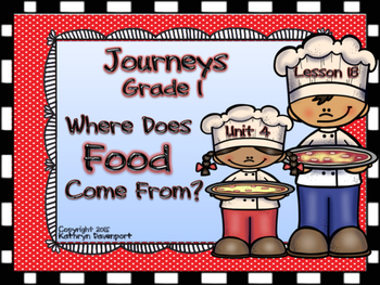Journeys Grade 1 Where Does Food Come From? Grade 1 Unit 4