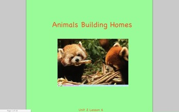 Journeys Grade 2 Animals Building Homes Unit 2.6