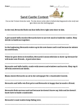 """Journeys Grade 2: Guided Reading Book """"The Sand Castle Contest"""" activity"""