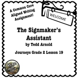Journeys Grade 2 Lesson 19-The Signmaker's Assistant Writi