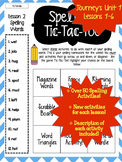 Journey's Grade 2 Lessons 1-6 Spelling Tic-Tac-Toe 50+ Act