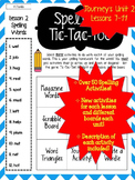 Journey's Grade 2 Lessons 7-11 Spelling Tic-Tac-Toe 50+ Ac