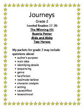 Journeys Grade 2 Leveled Readers 17-20
