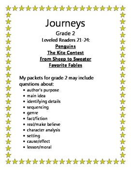 Journeys Grade 2 Leveled Readers 21-24