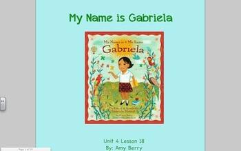 Journeys Grade 2 My Name is Gabriela Unit 4.18