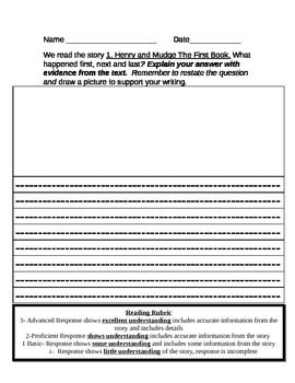 Journeys Grade 2 Reading Response