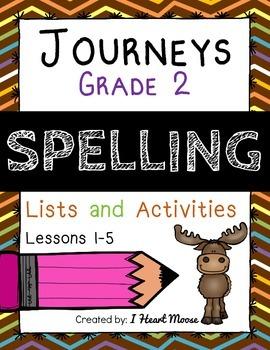 Journeys 2014 Grade 2 Spelling: Lessons 1-5