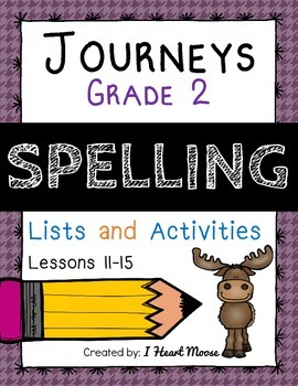 Journeys 2014 Grade 2 Spelling: Lessons 11-15