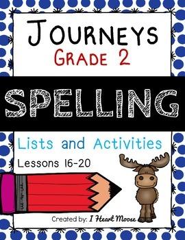 Journeys 2014 Grade 2 Spelling: Lessons 16-20