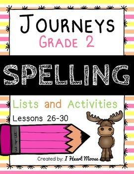 Journeys 2014 Grade 2 Spelling: Lessons 26-30