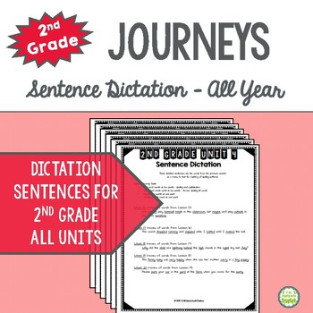 Journeys Grade 2 Spelling Sentence Dictation