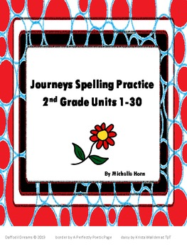 Journeys Grade 2 Spelling and Handwriting Practice