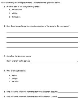 Journeys-Grade 2 Summary Questions-Editable