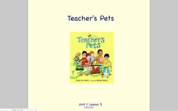 Journeys Grade 2 Teacher's Pets Unit 1.5