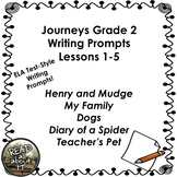 Journeys Grade 2-Unit 1-Lessons 1-5 Writing Prompts