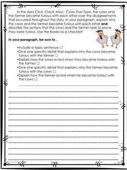 Journeys Grade 2-Unit 3-Lessons 11-15 Writing Prompts
