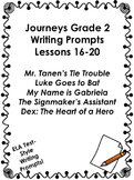 Journeys Grade 2-Unit 4-Lessons 16-20 Writing Prompts