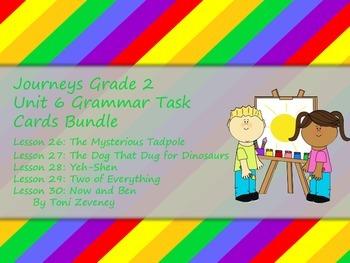 Journeys Grade 2 Unit 6 Grammar task Card Bundle