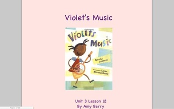 Journeys Grade 2 Violet's Music Unit 3.12