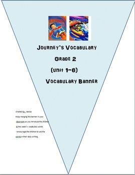 Journey's Grade 2 Vocabulary Banner (unit 1-6)
