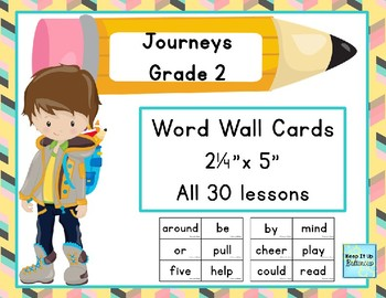 Journeys Grade 2 Word Wall Cards