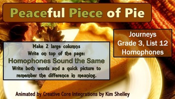 Journeys Grade 3 Interactive Spelling List 12