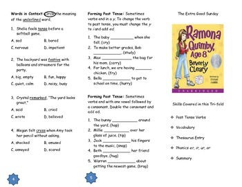 """Journeys Grade 3; Lesson 15: """"The Extra Good Sunday"""" Trifold"""